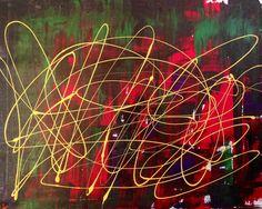 Abstract art, modern art original art by Cj Pichinevskiy.. Pk*-_-*destiny