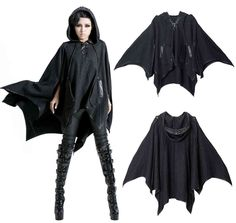 Go Gothic with this Punk Rave cloak bat.