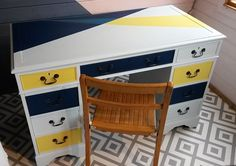 Be inspired by some of our favourite items of painted furniture that have left the Orange Otter workshop. Pedestal Desk, Writing Desk, Otter, Your Space, Color Splash, Painted Furniture, Orange, Yellow, Gallery