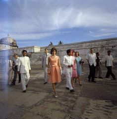 Touring an island during her trip to India.   31 Flawless Photos Of Jackie Kennedy