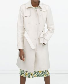 Image 2 of LONG COTTON TRENCHCOAT from Zara