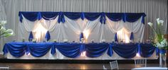 Astonishing royal blue wedding table decorations