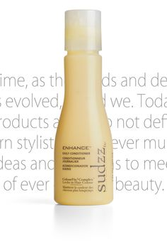 SUDZZfx Enhance™ Daily Conditioner  The ultimate daily conditioner for all hair types. Enhance™ eliminates tangles and adds body as it smoothes and soothes your hair. Surround your hair with all-day protection without adding weight.