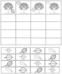 Fiche en kit : arbres et feuilles d'automne - Maitresse Myriam