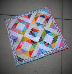 "do. Good Stitches PEACE circle January quilt... a baby quilt 36""  square. Perfect quick baby quilt"