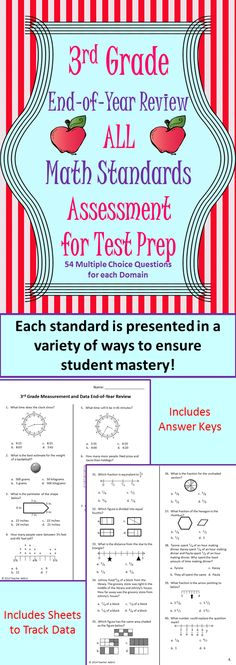 3rd Grade Math Review Stations | Math test and Math