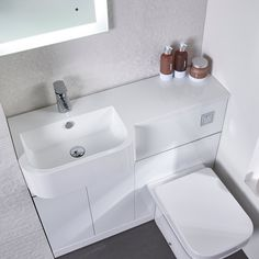 Tavistock Match Furniture Run & Basin White 1000 Left Hand Bathroom Shower Panels, Small Bathroom With Shower, Fitted Bathroom, Small Space Bathroom, Bathroom Design Small, Bathroom Layout, Master Bathroom, Sink Toilet Combo, Toilet And Sink Unit