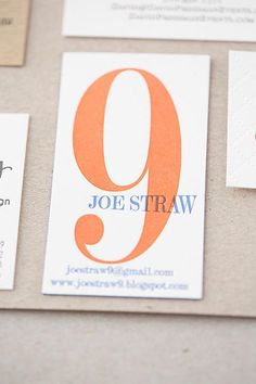 30 Ultra-Creative Business Cards For A Killer First Impression #refinery29  http://www.refinery29.com/cool-los-angeles-business-cards#slide-24  We have a feeling nine may be Joe Straw's lucky number. Paper studio Copper Willow conceived this idea for the multi-hyphenate producer, director, and writer — we particularly love the megaphone-inspired way his name is written out.