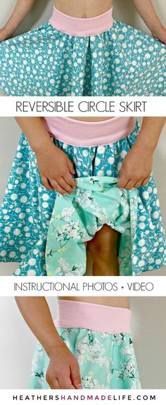 Sew a reversible circle skirt – Heather's Handmade Life Coser una falda circular reversible – Heather & # s Handmade Life No related posts. Sewing Kids Clothes, Sewing For Kids, Baby Sewing, Sew Your Own Clothes, Sewing Patterns For Kids, Barbie Clothes, Diy Circle Skirt, Circle Skirt Pattern, Circle Skirts