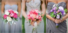 48. silver bridesmaid dresses bouquets - Google Search