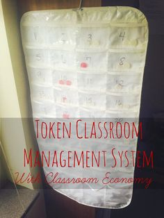 Classroom Economy Using Tokens for Classroom Management