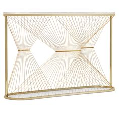 new furniture Console marble brass steel wire AEGIS-P limited edition hand made in Italy
