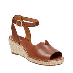 Petrina Selma Red Leather - Womens Wedge Sandals - Clarks® Shoes Official Site