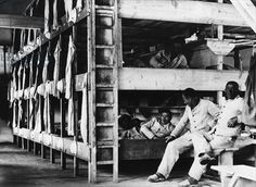 dachau concentration camp | Camp internees at Dachau concentration camp, Bavaria, 1933 (b/w photo ...