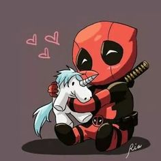 D E A D P O O L 😛😍 Cute Deadpool, Deadpool Art, Deadpool Kawaii, Deadpool Drawings, Avengers Drawings, Deadpool Movie, Deadpool Unicorn, Deadpool Chibi, Deadpool Tattoo