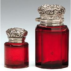Silver Mounted - Scent Bottles - Carter's Price Guide to Antiques and Collectables