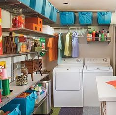 """Visit our site for more info on """"laundry room storage diy budget"""". It is actually a superb area to get more information. Basement Laundry, Laundry Room Organization, Garage Laundry, Laundry Closet, Organizing Life, Organising, Closet Storage, Diy Storage, Storage Ideas"""