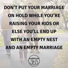 Marriage advice for all of us parents! No more autopilot. Get off of cruise control and put your time and energy into your marriage. You won't regret it.