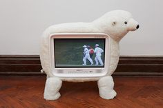 "new TV / Clinton Jpegs ""sculpture"" by Cory Arcangel"