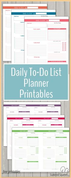 These DailyThese Daily To-Do List planner printables are a great addition to any planner. They help make planning those busier days a little easier. Best of all they match the colours used in the dated 2016 Calendar so you can create a planner that matche