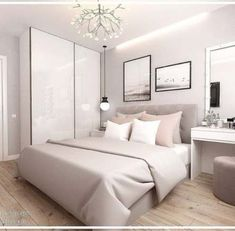 Welchen Raum in diesem Projekt magst du mehr? - Which room in this p Room Ideas Bedroom, Small Room Bedroom, Home Decor Bedroom, Small Modern Bedroom, Gold Bedroom, Bedroom Kids, Stylish Bedroom, Home Room Design, Design Bedroom