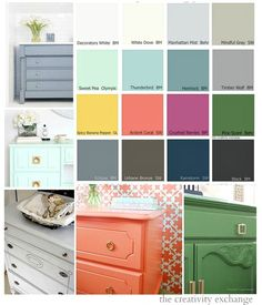 16 of the best and most versatile paint colors for painting furniture.  The Creativity Exchange