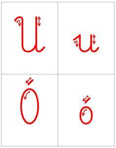 Kierunek kreślenia liter - trudności ortograficzne oraz ę i ą: U, u Ó, ó H, h Ch, ch Ż, ż Rz, rz ę , ą School, Montessori, Blog, Therapy, Blogging
