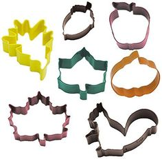 R  M International Set of 7 Fall Leaf Cookie Cutter Set with Three Leaves Acorn Pumpkin Apple and Squirel  Cutters Range from 275  375 *** You can find out more details at the link of the image.Note:It is affiliate link to Amazon.