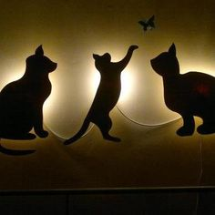 "Wall Lamps ""Cat"" Night Lamps 