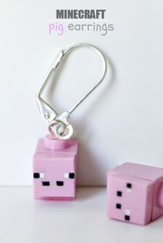 Do you have or know a little girl who loves #Minecraft? This is a unique gift idea for them! DIY tutorial for #Minecraft Earrings