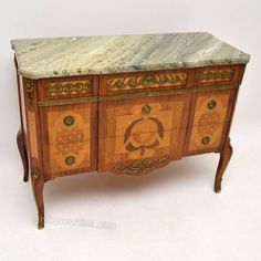 Antique Swedish Marble Top Commode Chest - Antiques Atlas