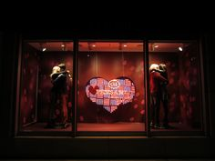 """My Valentine"", C and A, Brazil, mannequins by Hans Boodt, Holland, pinned by Ton van der Veer"