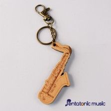 Wood Musical Keychain - Saxophone