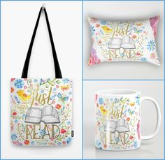Enter this giveaway for a chance to win an I Just Want to Read tote bag, mug and pillow set. Good luck!         a Rafflecopter giv...