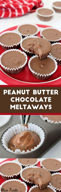 Peanut Butter Chocolate Meltaways 10 mins to make - Ingredients Gluten free Condiments cup Peanut butter Baking & Spices 3 oz Chocolate chips Semisweet 1 tbsp Shortening 6 oz White chocolate chips Peanut Butter Meltaways Recipe, Peanut Butter Recipes, Chocolate Peanut Butter, Chocolate Recipes, Chocolate Deserts, Chocolate Gifts, White Chocolate Chips, Chocolate Cookies, Chocolates