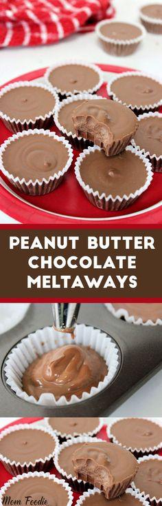 Peanut Butter Chocolate Meltaways