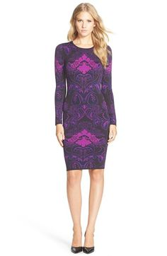 FELICITY & COCO Jacquard Sweater Body-Con Dress (Regular & Petite) available at #Nordstrom