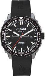 Alpina Men's AL525LB4V6 Adventure Analog Display Swiss Automatic Black Watch