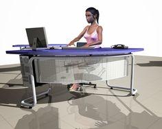 Móveis para escritórios _ mesa em metal e mdf
