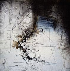 Kitty Sabatier - Failles. Pigments sur papier fait main, 30 x 30 cm (2009)