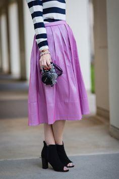 pink chicwish midi skirt via M Loves M @marmar