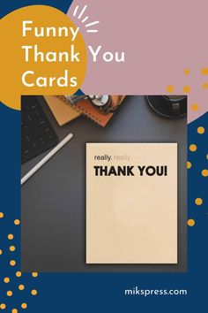 Send a big thank you with our 'Thank You' cards. Perfect for special occasions such as Weddings or great to have on hand to tell someone a quick 'Thank You'. Check out our shop now for more! Funny Thank You Cards, Types Of Printing, Some Cards, Letterpress Printing, To Tell, Birthday Cards, Envelope, Hilarious, Greeting Cards
