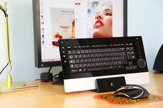 Logitech's diNovo Edge keyboard in its recharge dock. The mouse is also from the same manufacturer.