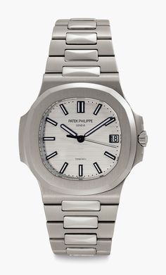 Patek Philippe. A Stainless-Steel Automatic Wristwatch with Date, Centre Seconds and White Dial. Retailed by Tiffany & Co. Ref. 57111A. Manufactured circa 2013. Estimate $20,000-$40,000. This lot is offered in Important Watches on 6 December at Christie's in New York