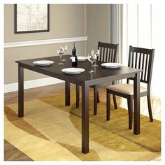 "Atwood Dining Table Wood/Cappuccino (55"" x 32"") - CorLiving"
