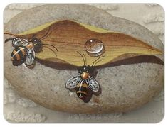 Роспись на камнях - секреты живых бабочек и капелек от Роберто Риззо и Маурицио Мореза