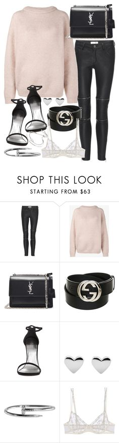 """""""Untitled #20461"""" by florencia95 ❤ liked on Polyvore featuring Anine Bing, Acne Studios, Yves Saint Laurent, Gucci, La Perla and Michael Kors"""