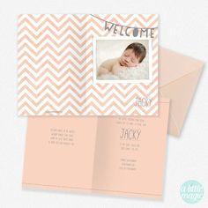 FG-60 Geboortekaartjes met foto Jacky - geboortekaartje met een foto van jullie eigen kindje