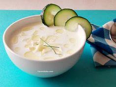 Sopa fría de yogur natural, pepino y manzana verde - CACEROLADAS