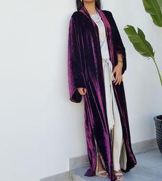 Qabeela SS17 Silk Velvet Classic Abaya